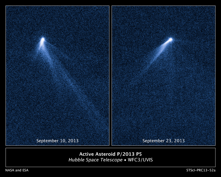 The object has shown significant changes in its rotation, but can only be theorized to what it actually is. (NASA/ESA