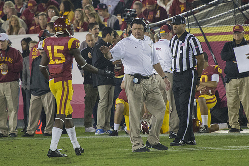 Was this Coach O's final game at the Coliseum? (Matt Woo, Neon Tommy)
