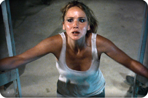 "Jennifer Lawrence tries to escape the humiliating mess that is ""House at the End of the Street."" Courtesy of Left Hand Horror."