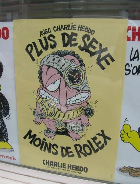 The cover of Charlie Hebdo, the satirical French magazine that published caricatures of Muhammed. (Creative Commons)