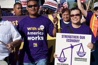 Immigration reform supporters in San Jose, CA (Flickr/SEIU International)