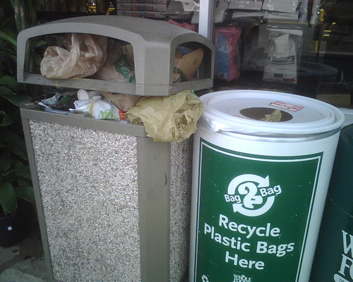 Recycling programs would have to be completely redesigned to be effective. (Flickr/Sam Felder)