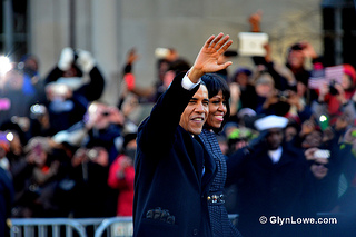President Barack Obama and First Lady Michelle Obama during the 2013 Inauguration. (Flickr/ Glyn Lowe Photoworks)