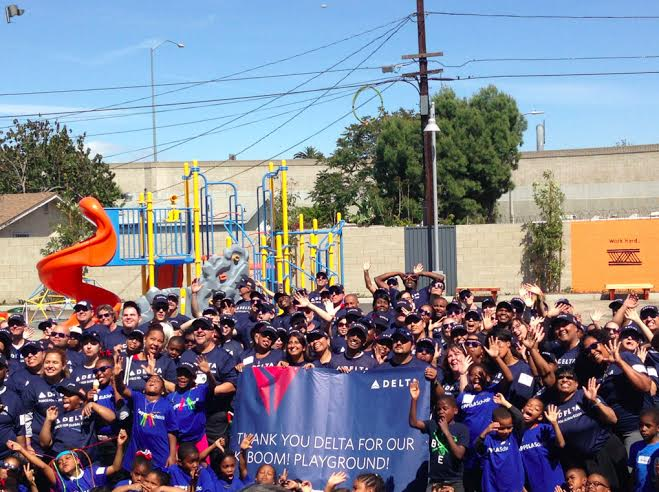 (KIPP students at thier new playground/Sana Ahmed, Neon Tommy)