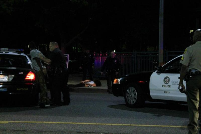 The LAPD arrested several party-goers. (Rikiesha Pierce)