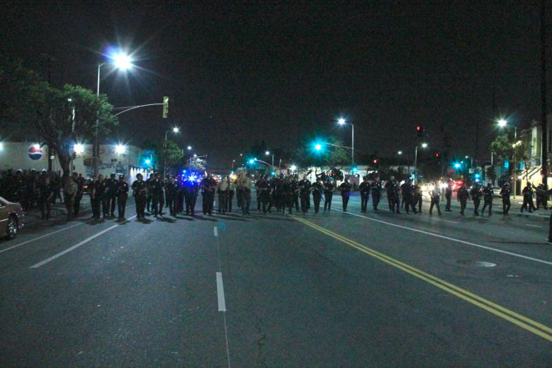 The LAPD were responding to a party hosted by people of color. (Rikiesha Pierce)