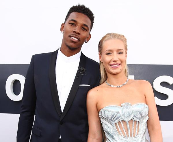 Iggy Azalea and her boyfriend Nick Young (Twitter/@LakersNation).