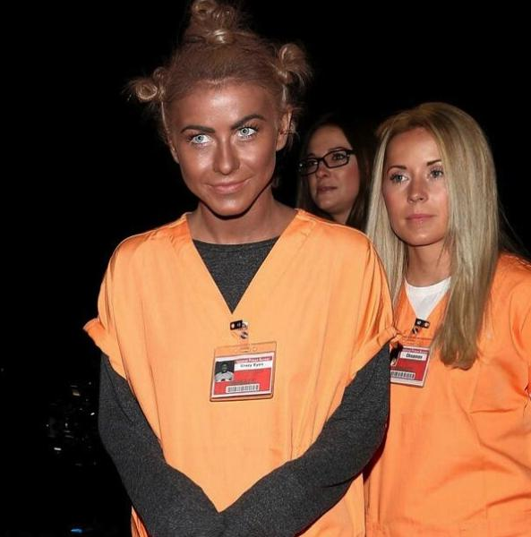 Julianne Hough used blackface for her Halloween costume as Crazy Eyes (Twitter/@DishNation).