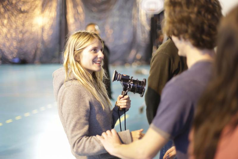 "Director Melanie Laurent on the set of ""Breathe"" (Courtesy of Film Movement)."