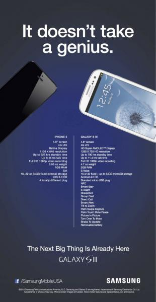 One of Samsung's direct ad's against Apple (digital trends)