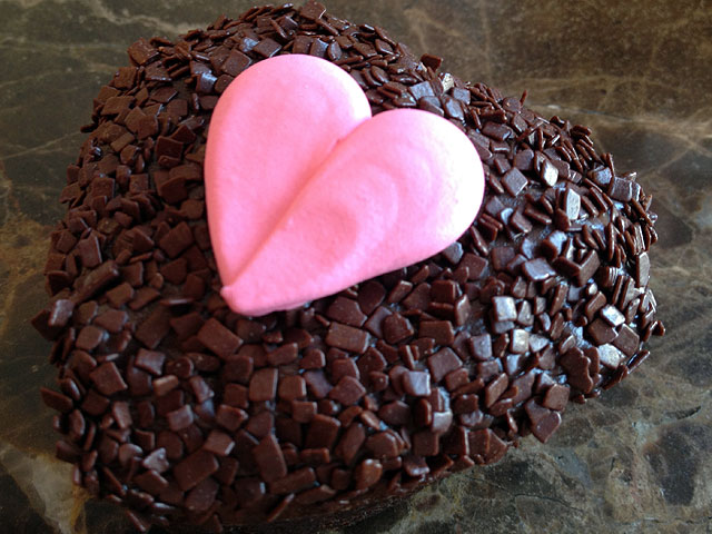 These heart-shaped brownies are the perfect Valentine's Day indulgence (Kelli Shiroma / Neon Tommy).