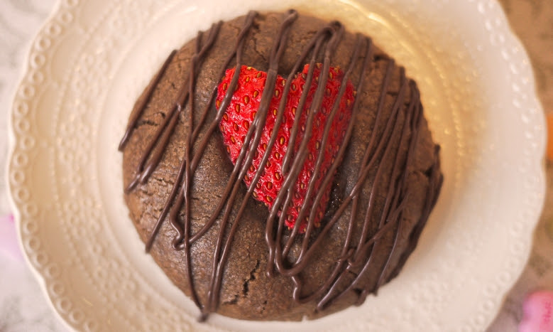"The ""Chocolate-Covered Strawberry Cookie"" is sure to win over the hearts of many cookie lovers this Valentine's Day (Photo Courtesy of Milk Jar Cookies)."