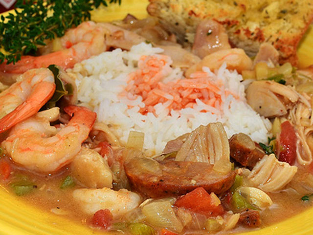 Shrimp and sausage gumbo is a savory, flavorful meal (jeffreyw / Flickr).