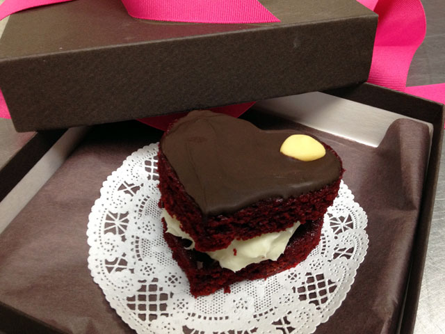 "The ""Red Velvet Cakette"" is one of the special treats offered for Valentine's Day (Kelli Shiroma / Neon Tommy)."