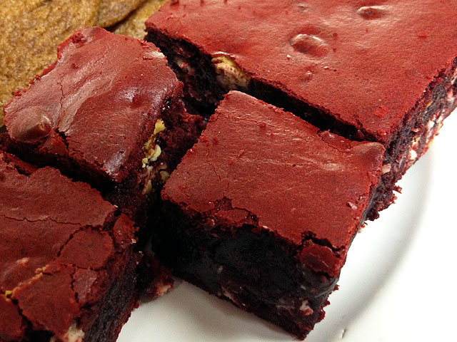 "The ""Red Velvet White Chocolate Brownie"" is a frequently ordered treat (Kelli Shiroma / Neon Tommy)."
