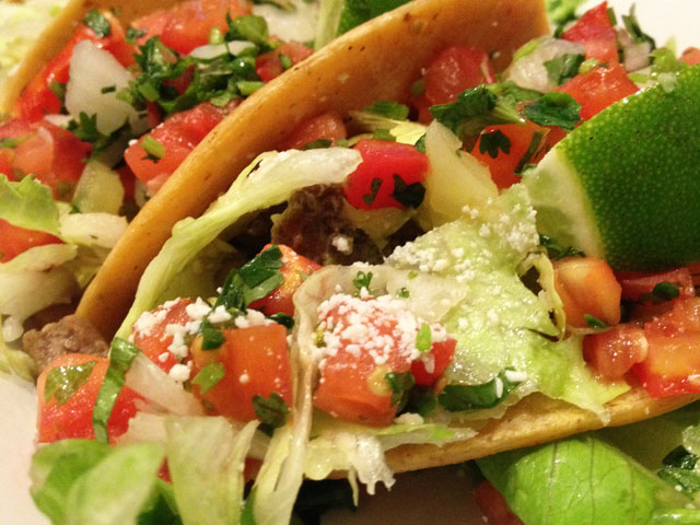 "The ""Steak Tacos"" were a hit among diners (Kelli Shiroma / Neon Tommy)."