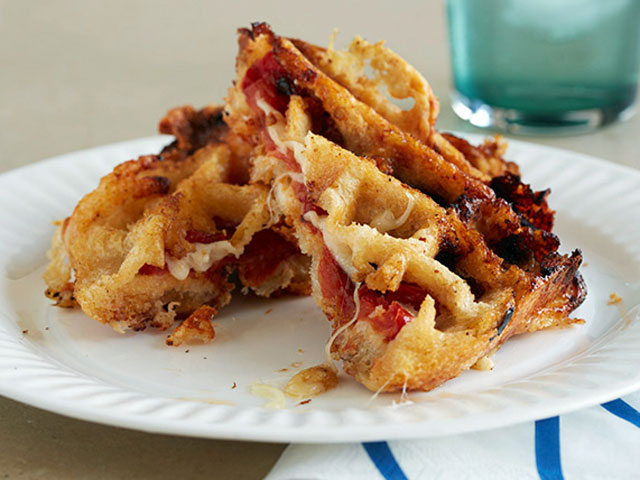 Everything tastes better in waffle form, including grilled cheese (Photo Courtesy of FoodNetwork.com).