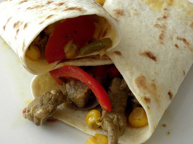 Veggie- and protein-filled wraps will help you power through your day (roolrool / Creative Commons).