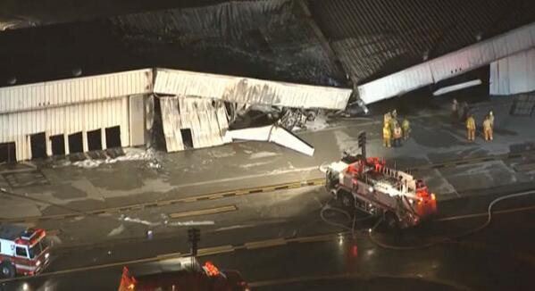 The Storage Unit The Plane Steered Into (via @CBSLA).