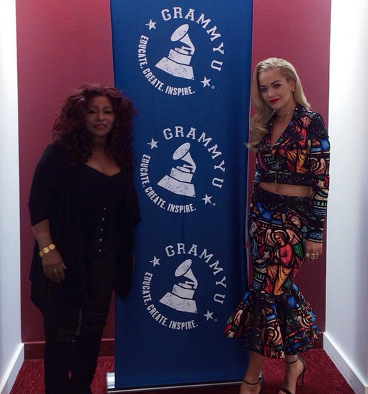 The legendary Chaka Khan and Rita Ora at the most recent GRAMMY U event (Instagram/@GrammyU)