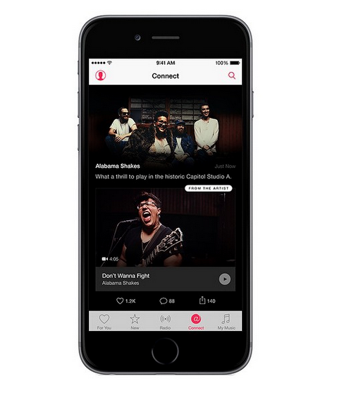What Apple Music will look like (via @iTunes/Instagram).