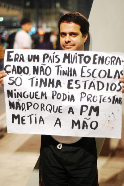 Brazil is in no shape to host the World Cup when people fear exiting a bank in the afternoon. (Beraldo Leal, Creative Commons)