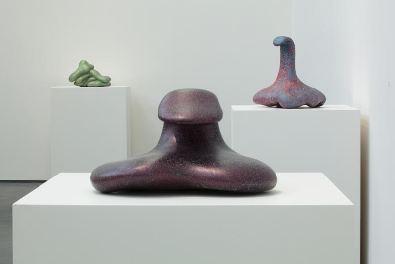 Three of Price's most recent sculptures (Los Angeles County Museum of Art)