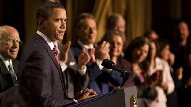 President Obama at the annual Prayer Breakfast