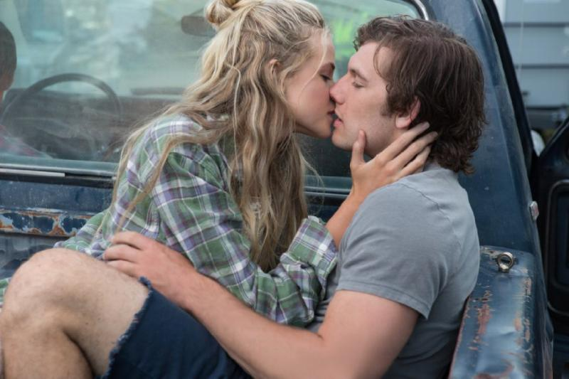 "Jade (Gabriella Wilde) and David (Alex Pettyfer) share a passionate kiss in teen romance ""Endless Love"" (Universal Pictures)."