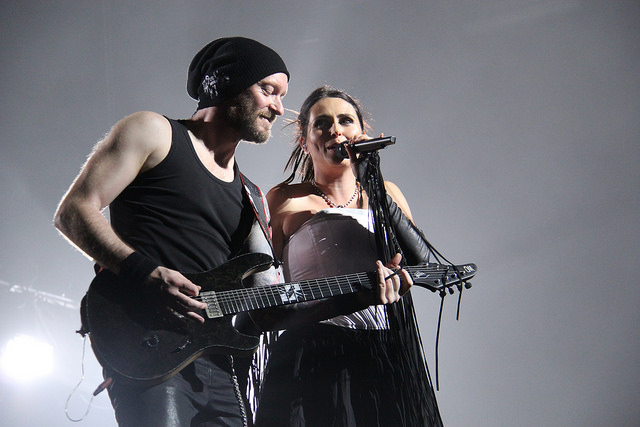 Ruud Jolie and Sharon Den Adel of Within Temptation (Michelle Tiu / Neon Tommy)