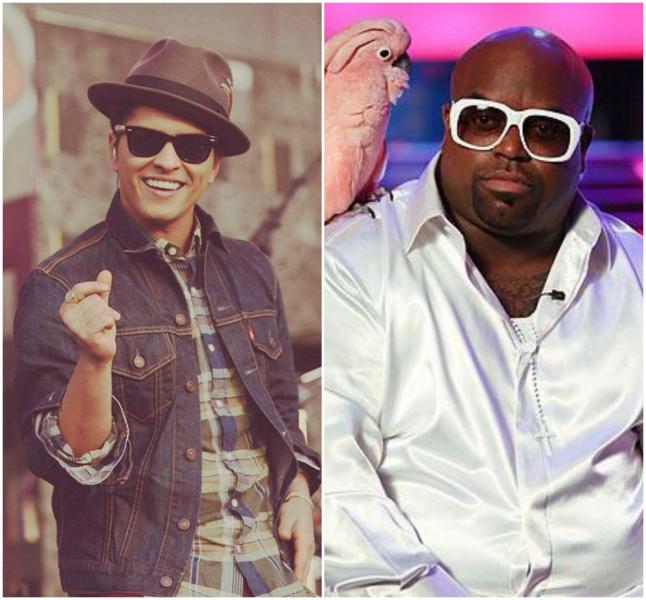 Bruno Mars has written hits for artists like Cee-Lo Green and Sean Kingston. (@noritama0903 and @BIG_DONKEY47 / Twitter)