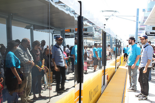 Expo Line passengers /photo credit: stevebott (flickr)