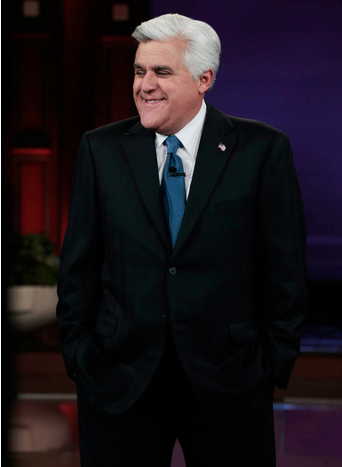 "(Jay Leno hosting the final episode of the ""Tonight Show"" on NBC (via Twitter/@JayLeno)"