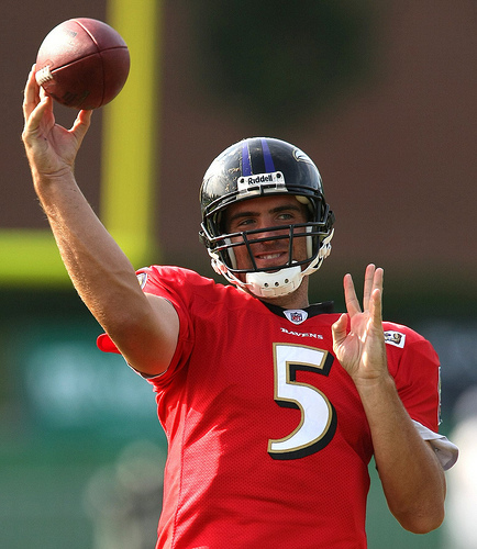 Ravens QB Joe Flacco has not thrown an INT this postseason. (Creative Commons/Keith Allison)