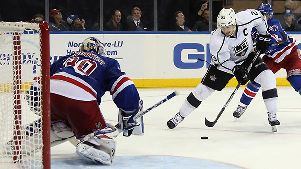 Dustin Brown and the Kings couldn't pull off another of their patented comebacks. (Bruce Bennett/Getty Images)