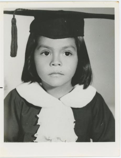Ana Cubas as a young graduate in El Salvador. (Ana Cubas)